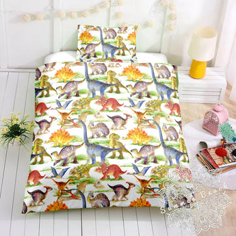 Stomping Dinosaurs Bed Set