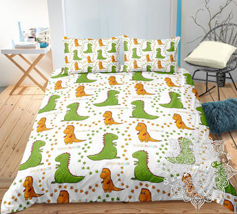 Dino Tracks Bed Set
