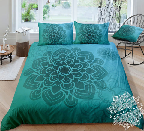 Green Mandala Bed Set