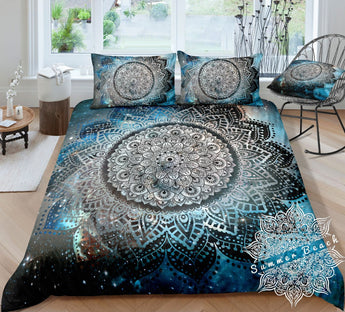 Galaxy Mandala Bed Set