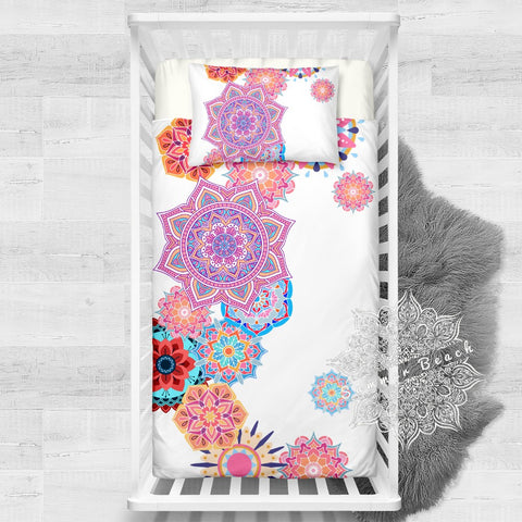 Mandala Cot Cotton Doona Cover Bed Set