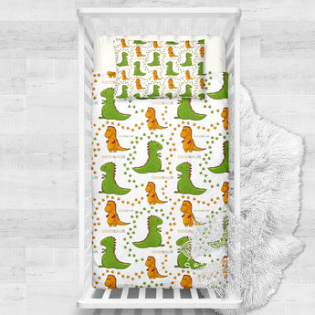 Dino Trek Cotton Cot Doona Cover Bed Set