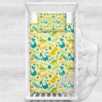 Dino Roarrrr Cotton Cot Doona Cover Bed Set