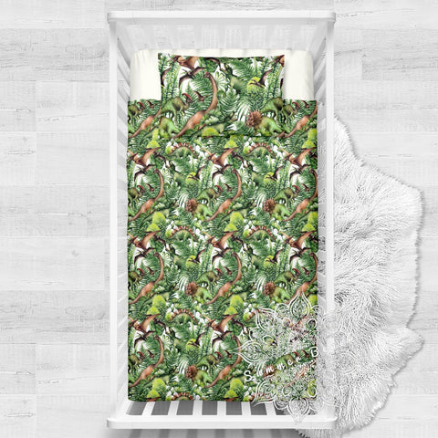 Dino Jungle  Cotton Cot Doona Cover Bed Set