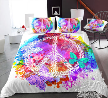 Water Colour Peace Bed Set
