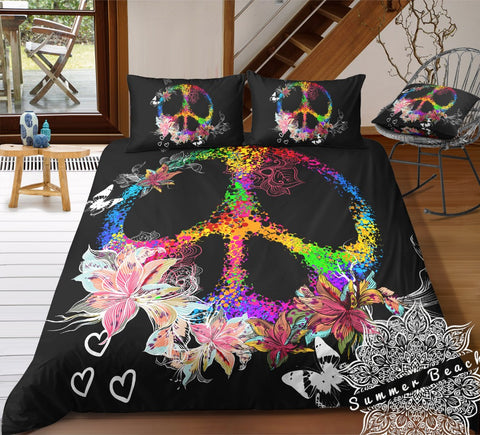 Rainbow Peace Bed Set - New Product Pre Order