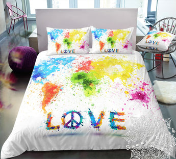 World Love & Peace Bed Set