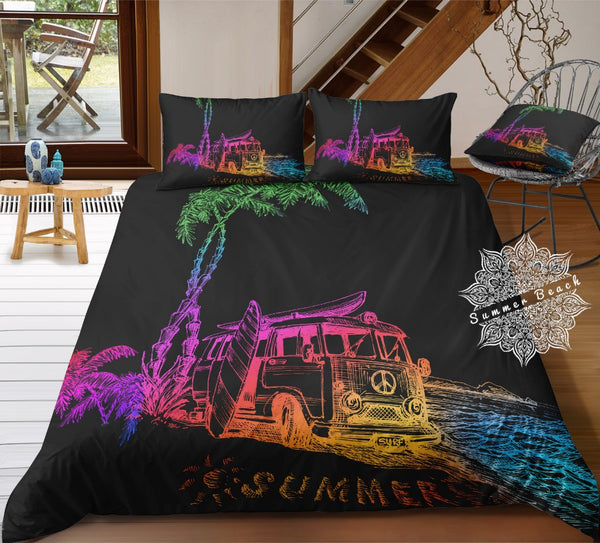 Beach Rainbow Kombi Van Bed Set