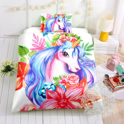 Princess Pestles Unicorn Bed Set