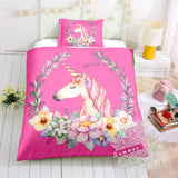 Princess Sofia Unicorn Pink Bed Set