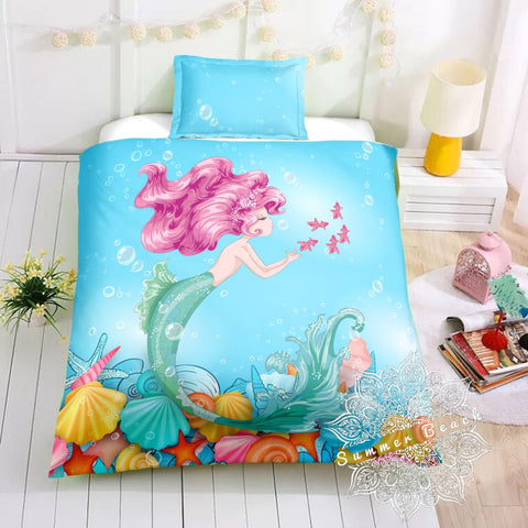 Mermaid Coral Bed Set