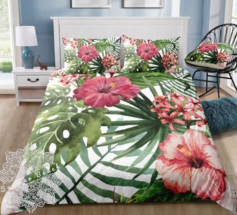 Tropical Hibiscus Bed Set - New