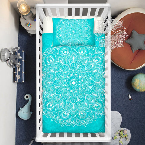 Tiffany Mandala Cotton Cot Doona Cover Bed Set