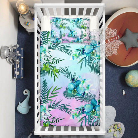 Tropical Orchards Cotton Cot Doona Cover Bed Set