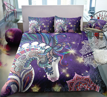 Unicorn Madala (Purple) Bed Set - New