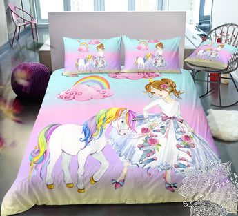 Unicorn Princess Bed Set - New