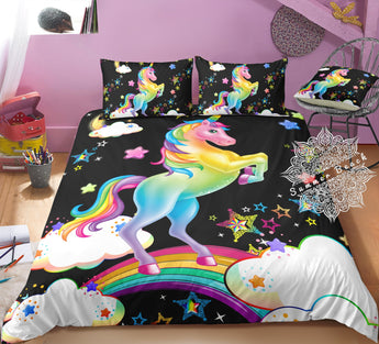 Rainbow Bright Unicorn  Bed Set - New