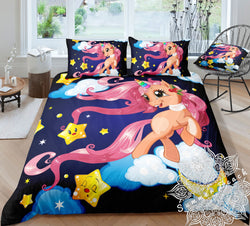 Twinkle Unicorn Bed Set - New