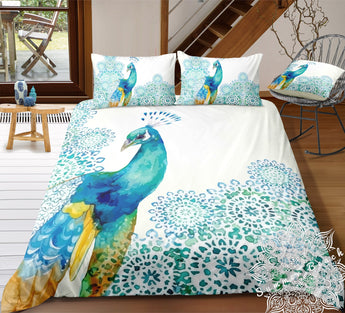 Peacock Mandala Bed Set