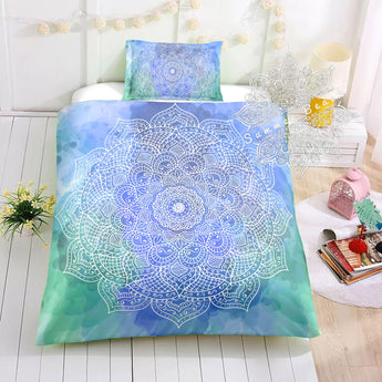 Paradise (Blue & Green) Cotton Cot Doona Cover Bed Set - Made To Order - Cotton