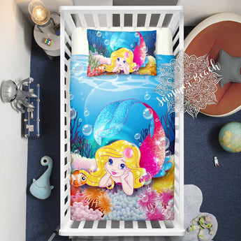 Mermaid Aquata Cot Doona Cover Bed Set