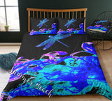 Dragonfly Dreams Bed Set - Black