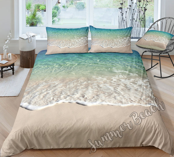 Aqua Waves Bed Set - New