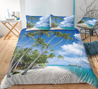 Island Beach Bed Set - New