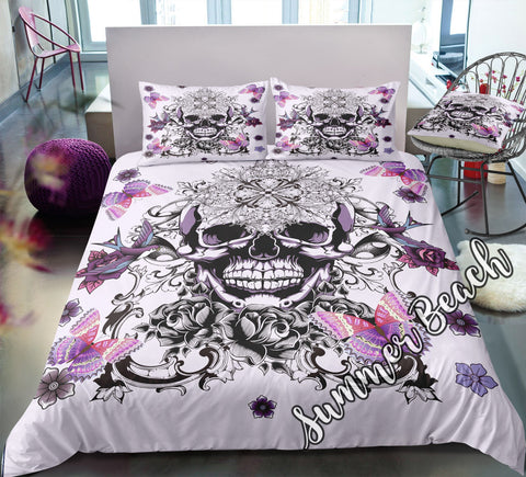 Butterfly Skull Bed Set - New