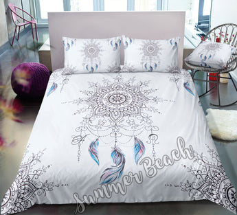 Feather Mandala Dreamcatcher Bed Set - New