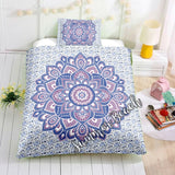 Mandala Flower Blue and Purple Bed Set - New
