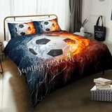 Fire Soccer Bed  Set - New