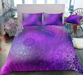Boho Galaxy Star Dust  Bed Set