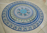 Round Mandala - Blue Bird of Paradise - M8