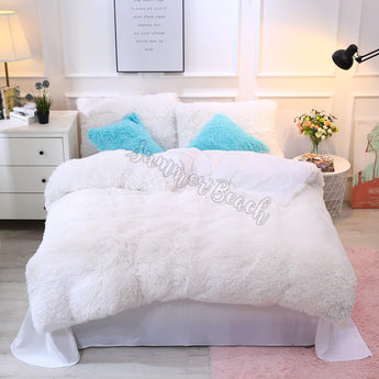 Plush Fluffy White Bed Set - MADE TO ORDER