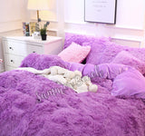 Plush Fluffy Purple Bed Set - MADE TO ORDER