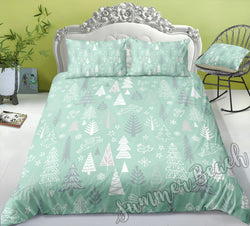 Christmas Tree Bed Set Green - New