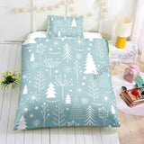Christmas Tree Bed Set Blue - New