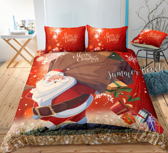 Christmas Santa 3 Bed Set - New