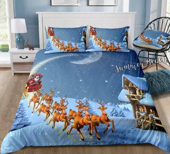 Christmas Santa Sleigh Bed Set - New