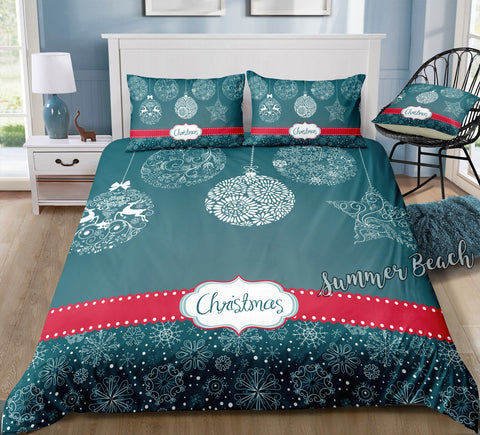 Christmas Baubles 1 Bed Set - New