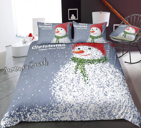 Christmas Snowman Bed Set