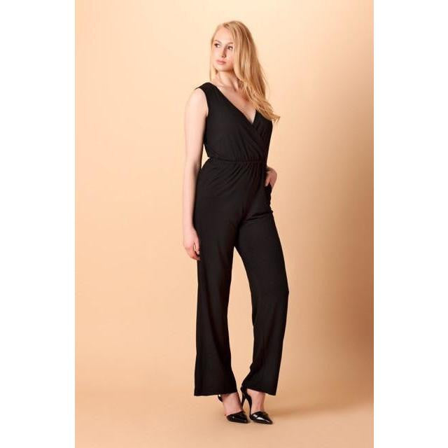 Black Wide Leg Jumpsuit - mooi lab
