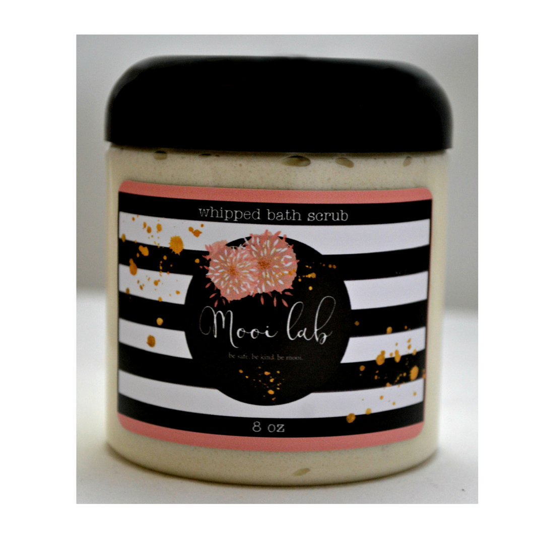 Make Your Own Whipped Body Scrub! - mooi lab