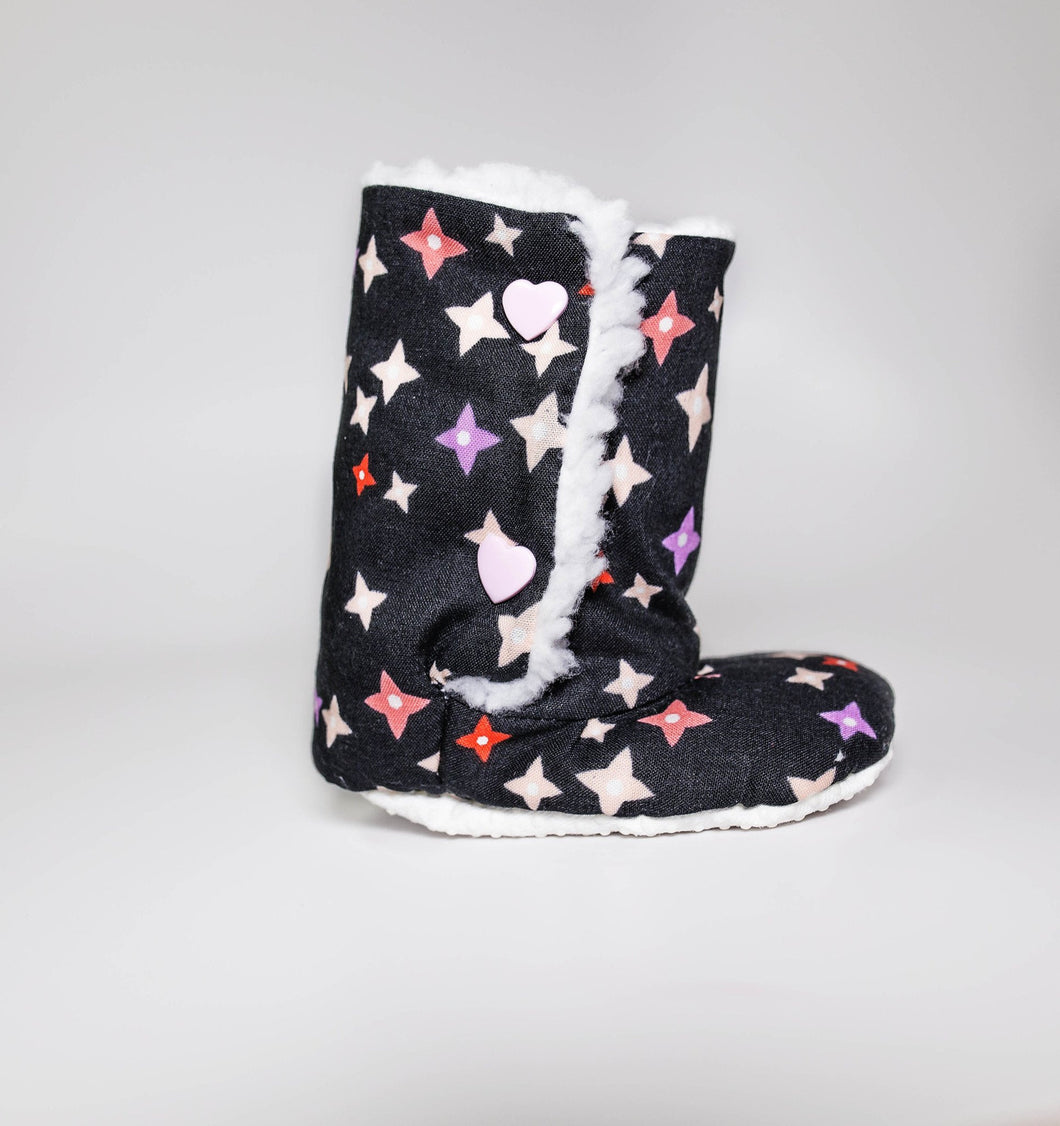 Starry Night Baby Boots (Organic Cotton) - mooi lab