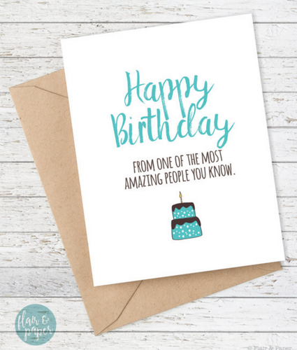 Happy Birthday - From Most Amazing People You Know Card - mooi lab