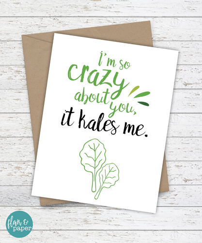 I'm So Crazy About You - It Kales Me! Card - mooi lab