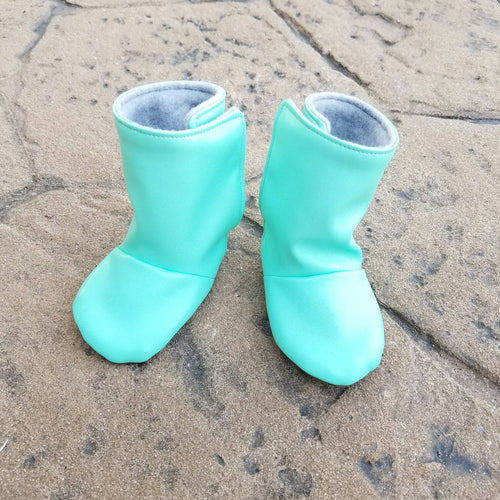 Mint Green Baby Boots - mooi lab
