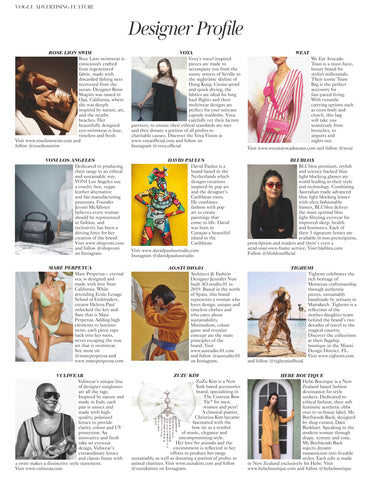 British Vogue Designer Profile
