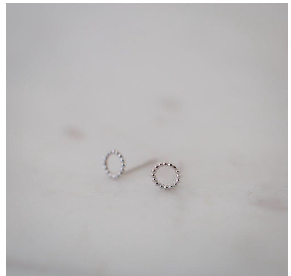 Dotty Oh Stud Earrings - Silver